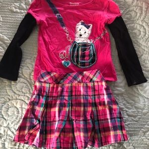 24m Girls outfit long sleeve and Skirt